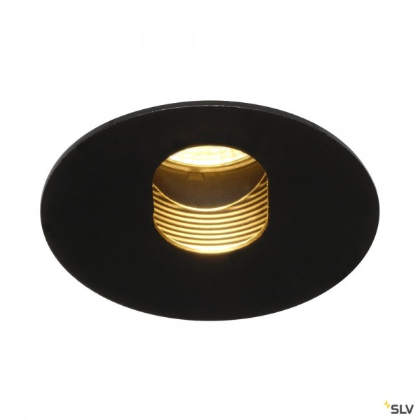 SLV 114490 H-Light 2, Deckeneinbauleuchte, schwarz matt, dimmbar C+L, LED, 12W, 2700K, 395lm