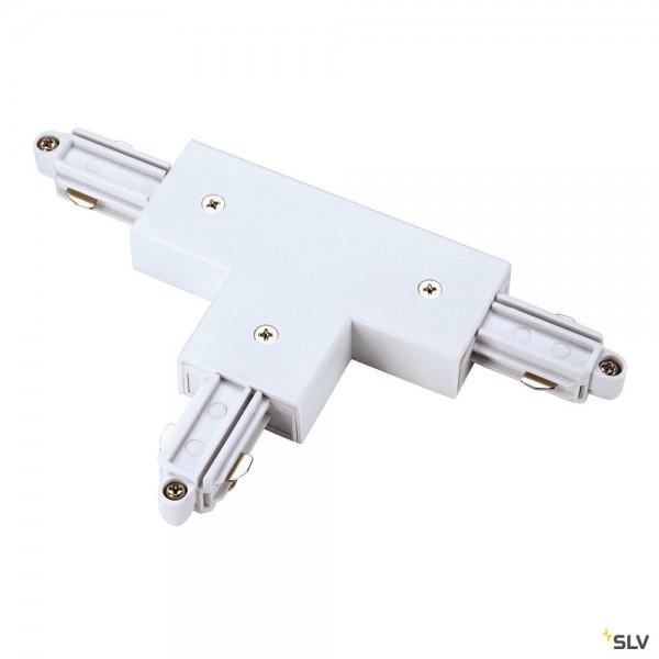 SLV 143071 1 Phasen, Aufbauschiene, T-Verbinder, Erde links, weiß
