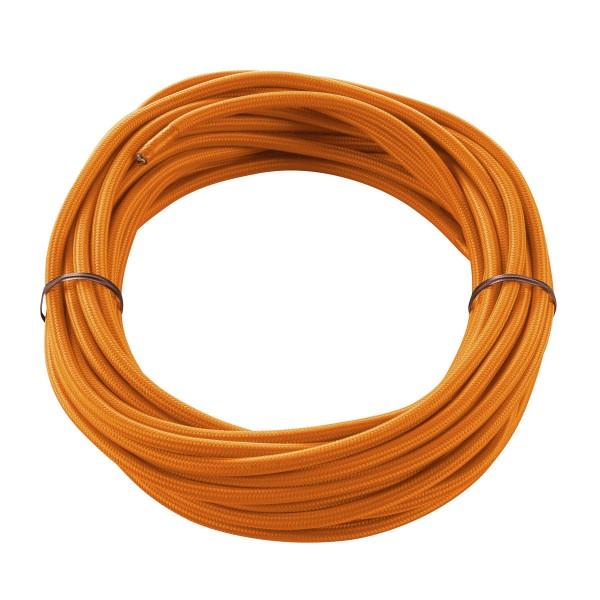 SLV 961274 Textilkabel, 10m, orange, 3-adrig