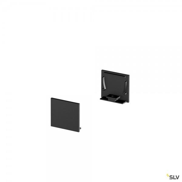 SLV 1000567 Grazia 20, Endkappen, schwarz, flach, 2 Stück