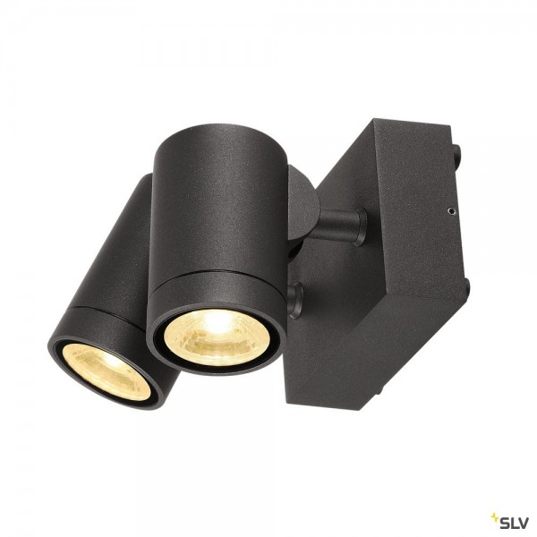 SLV 233255 Helia, Wandleuchte, anthrazit, IP55, dimmbar Triac C+L, LED, 16W, 3000K, 900lm
