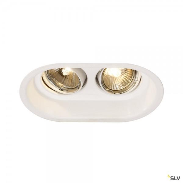 SLV 113111 Horn 2, Deckeneinbauleuchte, weiß matt, QPAR51, GU10, max.2x50W