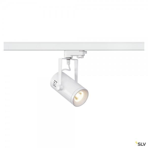 SLV 1001368 Euro Spot, 3Phasen, Strahler, weiß, LED, 11W, 3000K, 650lm, 36°