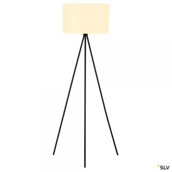 SLV 155490 + 156111 Fenda, Stehleuchte, schwarz/weiß, Ø45,5cm, E27, max.40W