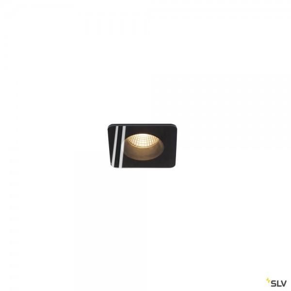 SLV 114450 Patta-F, Deckeneinbauleuchte, schwarz, IP65, dimmbar Triac C+L, LED, 12W, 3000K, 745lm