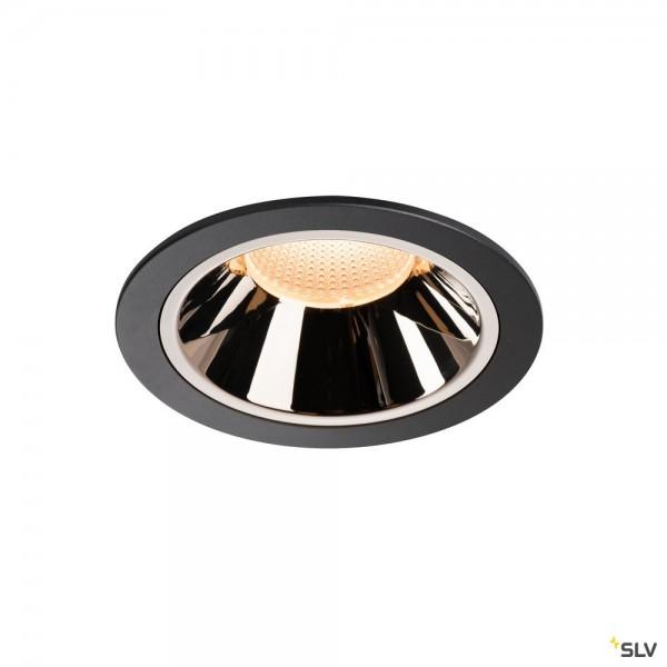 SLV 1003990 Numinos XL, Deckeneinbauleuchte, schwarz/chrom, LED, 37,4W, 2700K, 3400lm, 40°
