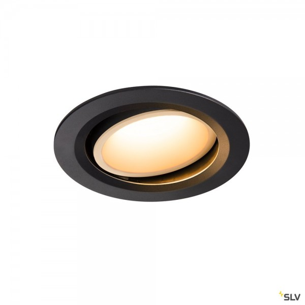 SLV 1003626 Numinos Move L, Deckeneinbauleuchte, schwarz/weiß, LED, 25,41W, 2700K, 2250lm, 20°