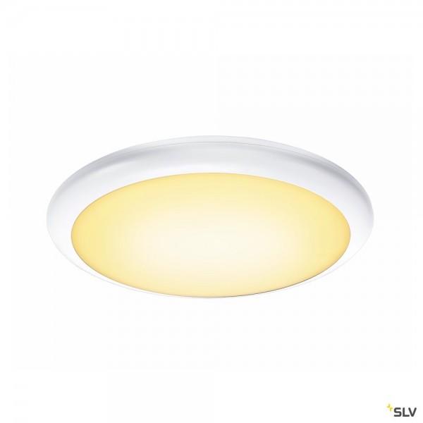 SLV 1001914 Ruba 20 Sensor, Wand- und Deckenleuchte, weiß, IP65, LED, 13W, 3000K/4000K, 2500lm