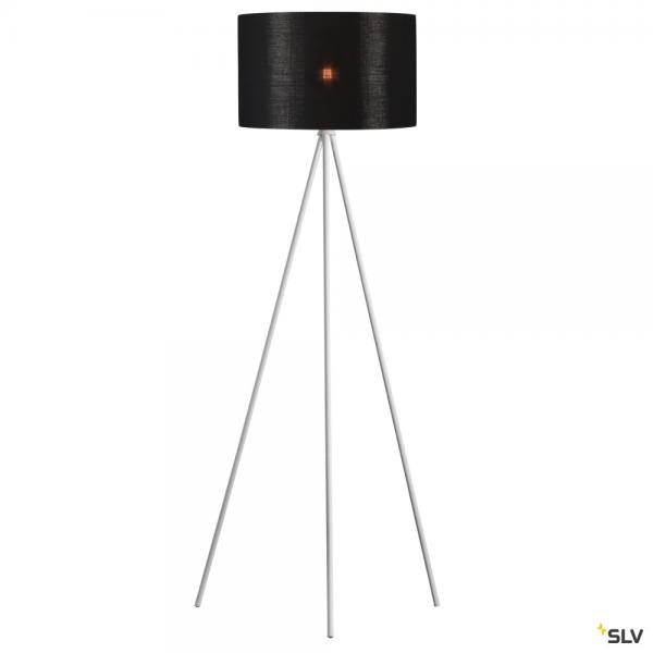 SLV 1003033 + 156122 Fenda, Stehleuchte, weiß/schwarz/kupfer, Ø45,5cm, E27, max.40W