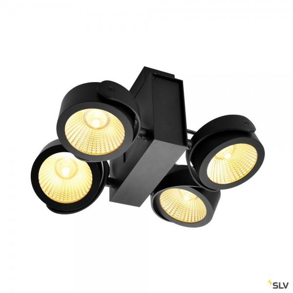 SLV 1001433 Tec Kalu, Strahler, schwarz, dimmbar Triac C, LED, 60W, 3000K, 3800lm, 24°