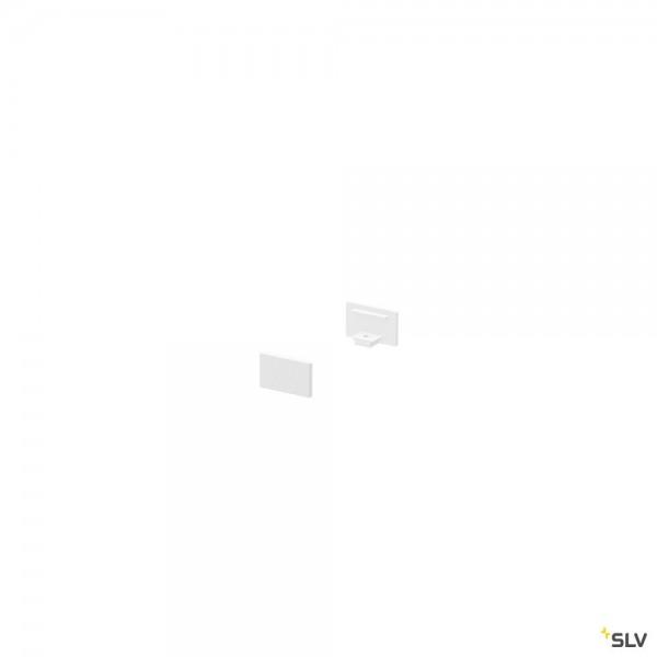 SLV 1000476 Endkappen 2 Stück, weiß, flach, Grazia 10