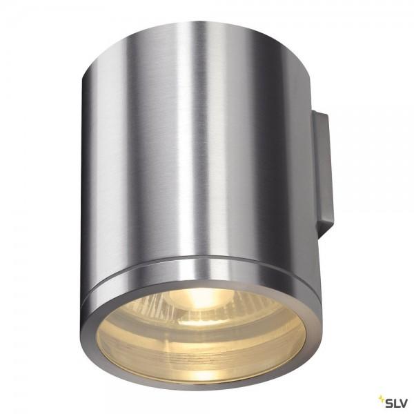 SLV 1000333 Rox, Wandleuchte, alu gebürstet, IP44, QPAR111, GU10, max.50W