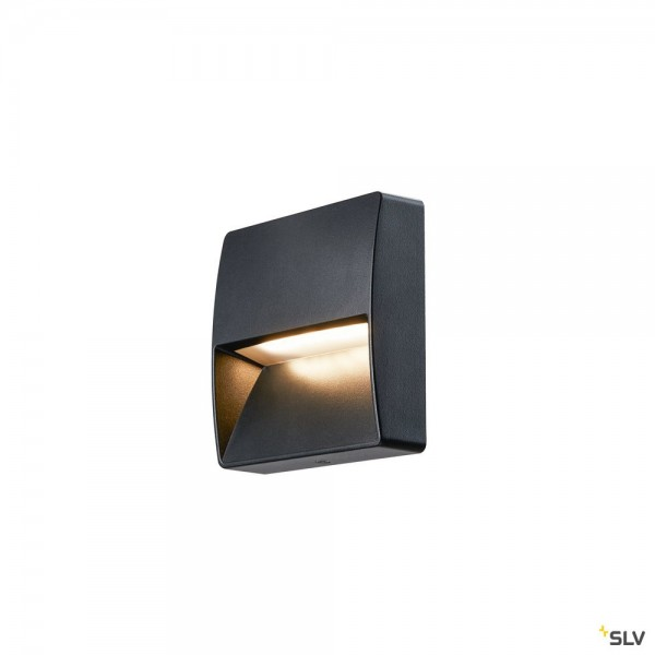 SLV 1002869 Downunder Out, Wandleuchte, anthrazit, IP65, LED, 4,5W, 3000K/4000K, 150lm