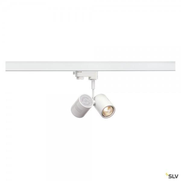 SLV 152231 Bima 2, 3Phasen, Strahler, weiß matt, QPAR51, GU10, max.2x50W