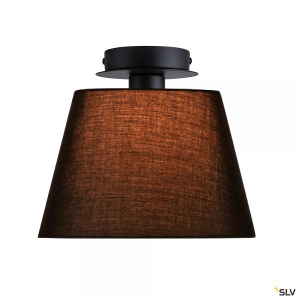 SLV 155550 + 156160 Fenda, Deckenleuchte, schwarz, Ø30cm, E27, max.60W
