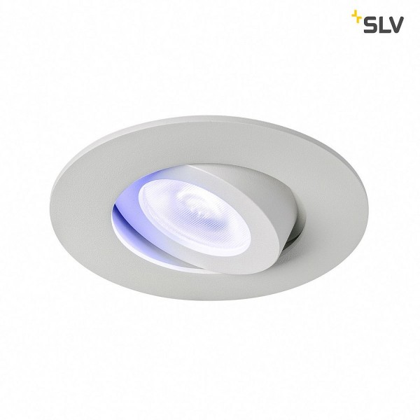 SLV 1002528 Play, Downlight, Deckeneinbauleuchte, weiß, LED, 2200K-6500K, 450lm, RGBW