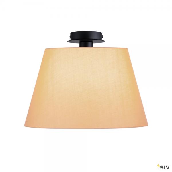 SLV 155550 + 156183 Fenda, Deckenleuchte, schwarz/beige, Ø45,5cm, E27, max.60W