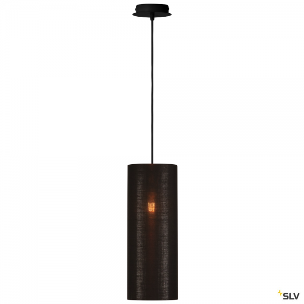 SLV 155560 + 156152 Fenda, Pendelleuchte, schwarz/kupfer, Ø15cm, E27, max.60W