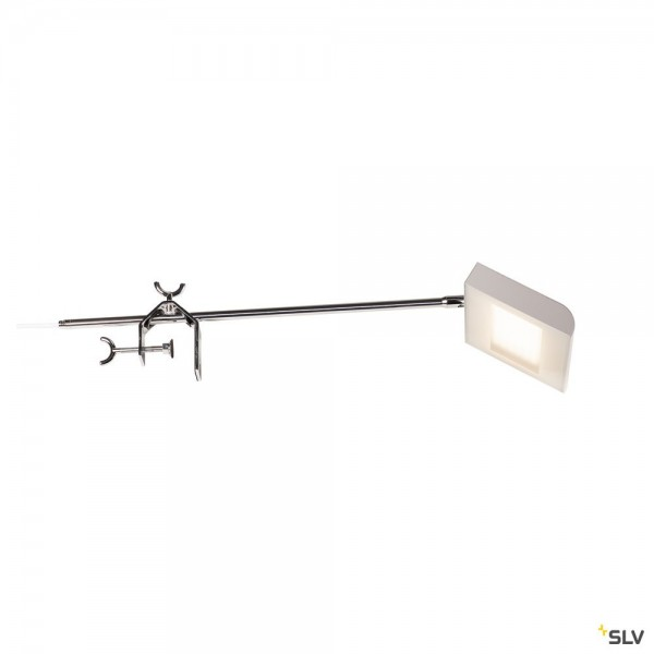 SLV 1001857 Malo Display WL, Displayleuchte, silbergrau/chrom, mit Schalter, LED, 23W, 4000K, 1600lm