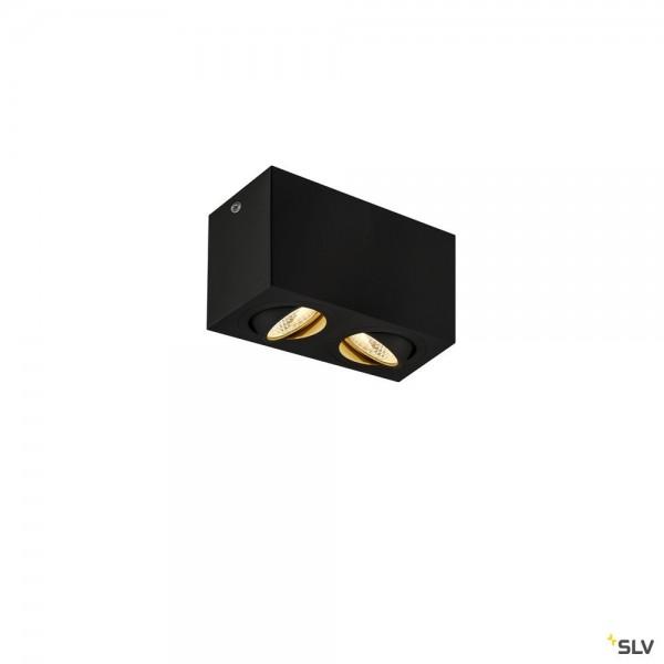 SLV 1002003 Triledo Double Square, Deckenleuchte, schwarz, LED, 16W, 3000K, 1100lm
