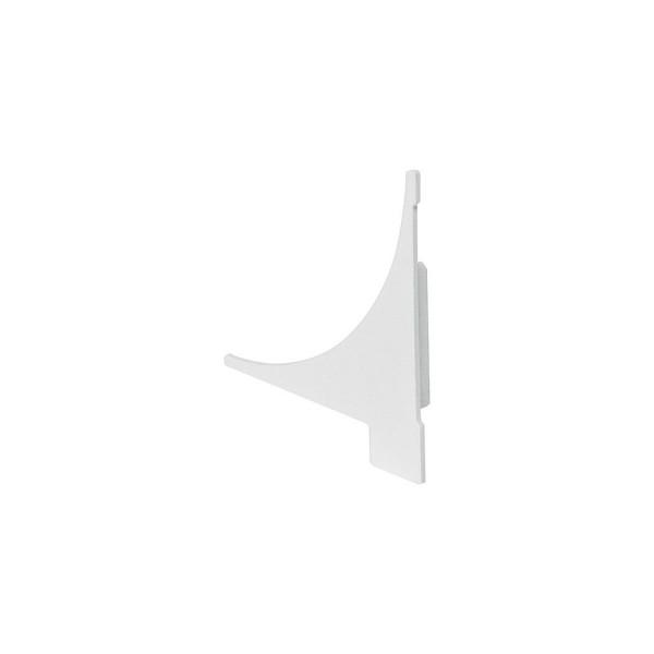 SLV 213571 Glenos, Regalprofil, Endkappen, weiß, 2 Stück