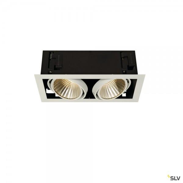 SLV 115741 Kadux 2 Set, Deckeneinbauleuchte, dimmbar 1-10V, LED, 54W, 3000K, 5300lm
