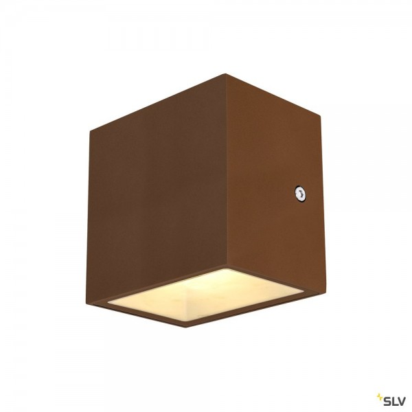 SLV 1002034 Sitra Cube, Wandleuchte, rost, up&down, IP44, LED, 10W, 3000K, 1120lm