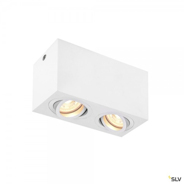 SLV 1002006 Triledo Double Square, Deckenleuchte, weiß, LED GU10, max.2x10W