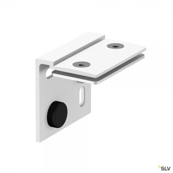 SLV 1002236 H-Profil, Wandhalterung, weiß, 2 Stück