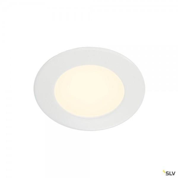 SLV 112161 DL 126, Wand- und Deckeneinbauleuchte, weiß, LED, 2,8W, 2700K, 160lm