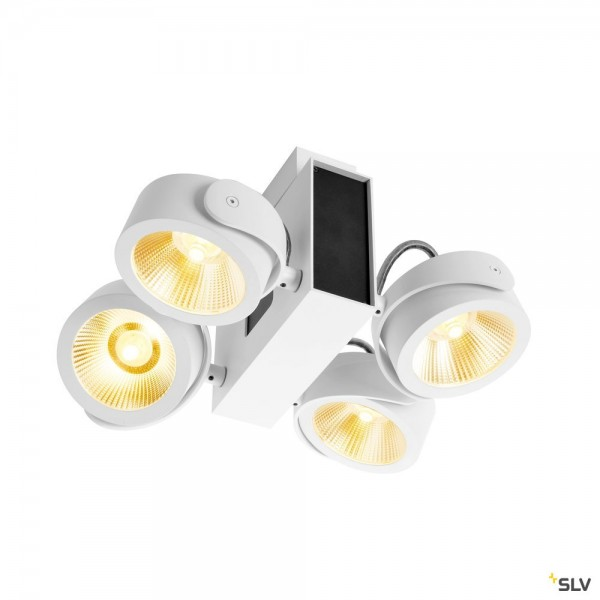 SLV 1001426 Tec Kalu, Strahler, weiß, dimmbar C, LED, 60W, 3000K, 3800lm, 60°