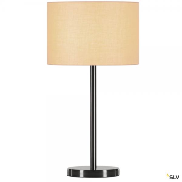 SLV 155785 + 155583 Fenda, Tischleuchte, metall gebürstet/beige, Ø30cm, E27, max.40W