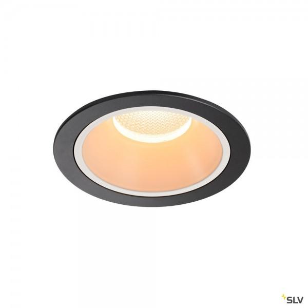 SLV 1003986 Numinos XL, Deckeneinbauleuchte, schwarz/weiß, LED, 37,4W, 2700K, 3500lm, 20°