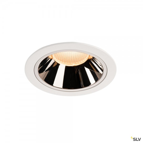 SLV 1004002 Numinos XL, Deckeneinbauleuchte, weiß/chrom, LED, 37,4W, 2700K, 3400lm, 40°