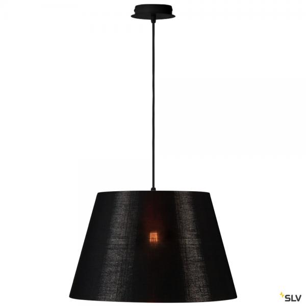 SLV 155560 + 156192 Fenda, Pendelleuchte, schwarz/kupfer, Ø45,5cm, E27, max.60W
