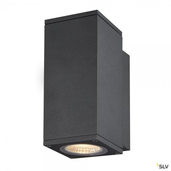 SLV 1003416 Enola Square S, Wandleuchte, anthrazit, IP65, LED, 6W, 3000K/4000K, 450lm