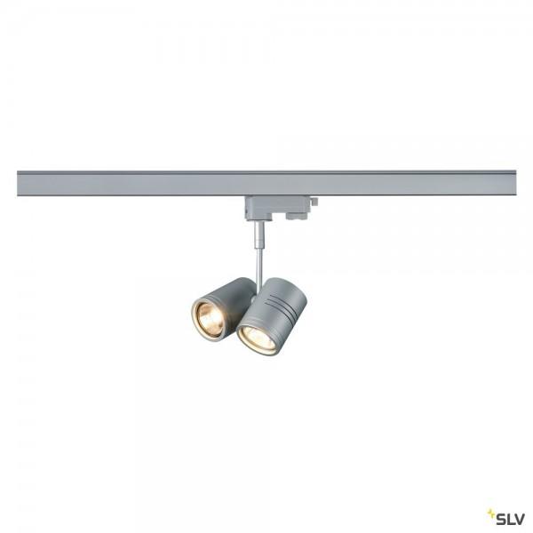 SLV 152232 Bima 2, 3Phasen, Strahler, silbergrau, QPAR51, GU10, max.2x50W