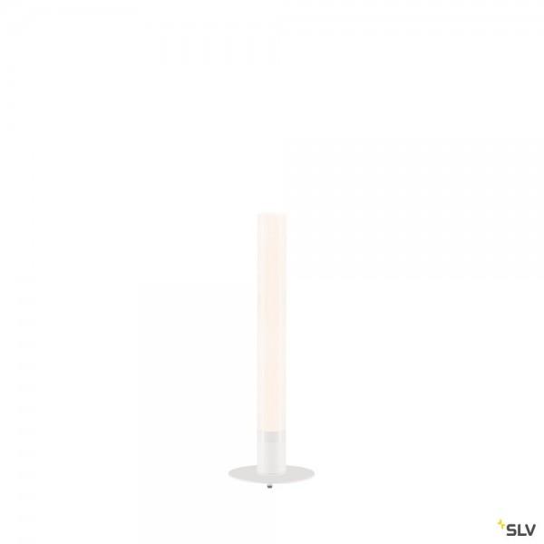 SLV 234431 + 234411 Light Pipe, weiß, Netzstecker, IP55, dimmbar Triac CL, LED, 11W, 2700K, 630lm