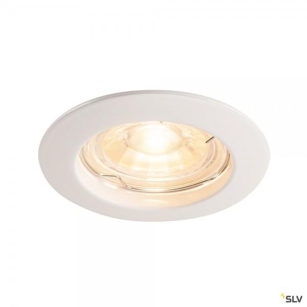 SLV 1000714 Pika, Deckeneinbauleuchte, weiß, QPAR51, GU10, max.50W