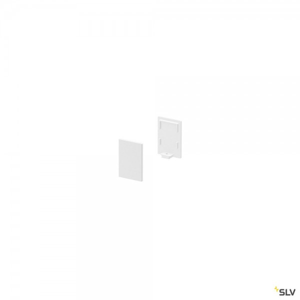 SLV 1000485 Endkappen 2 Stück, weiß, hoch, Grazia 10
