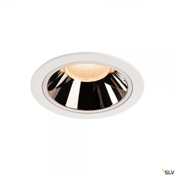 SLV 1003999 Numinos XL, Deckeneinbauleuchte, weiß/chrom, LED, 37,4W, 2700K, 3400lm, 20°