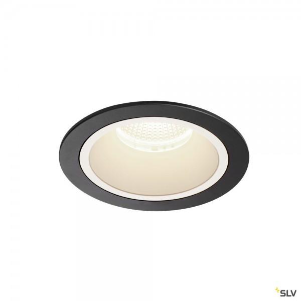 SLV 1003962 Numinos L, Deckeneinbauleuchte, schwarz, LED, 25,41W, 4000K, 2450lm, 20°