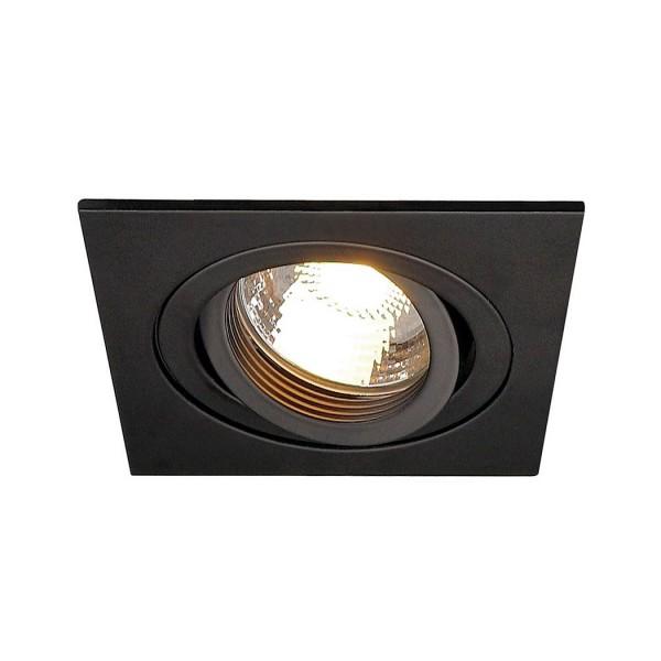 SLV 199990 Pireq, Deckeneinbauleuchte, schwarz matt, QPAR51, GU10, max.50W