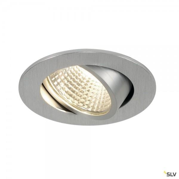 SLV 113956 New Tria 1 Set, Deckeneinbauleuchte, alu gebürstet, LED, 5,3W, 3000K, 300lm