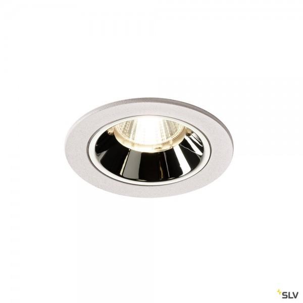 SLV 1003837 Numinos S, Deckeneinbauleuchte, weiß/chrom, LED, 8,6W, 4000K, 750lm, 55°