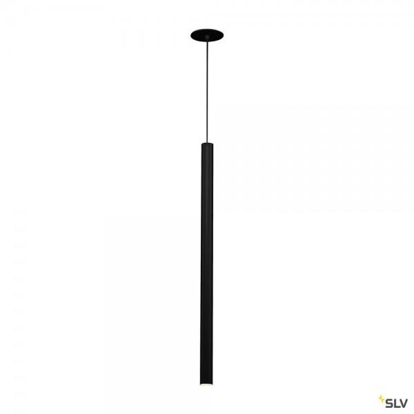 SLV 158400 Helia 60, Pendeleinbauleuchte, schwarz, LED, 7,5W, 3000K, 500lm