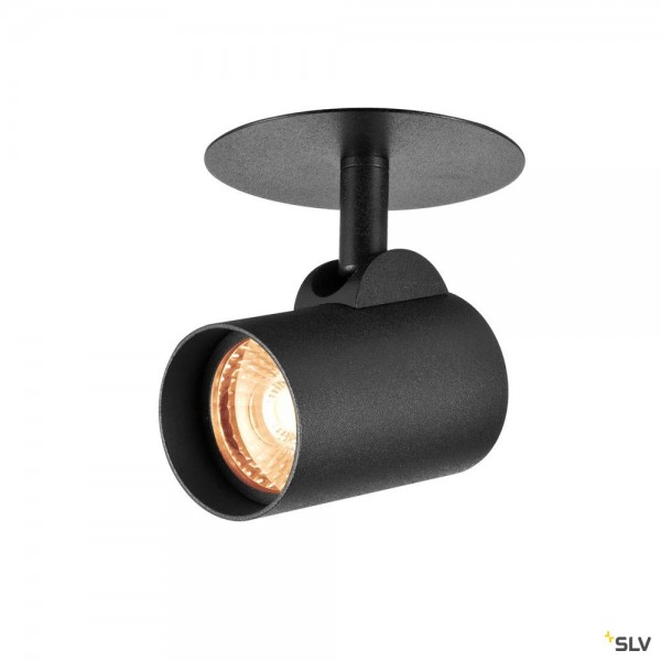 SLV 156530 Helia, Wand- und Deckeneinbauleuchte, schwarz, LED, 9W, 3000K, 700lm