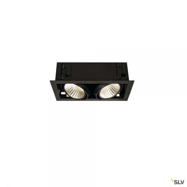 SLV 115740 Kadux 2 Set, Einbauleuchte, schwarz matt, dimmbar 1-10V, LED, 54W, 3000K, 5200lm
