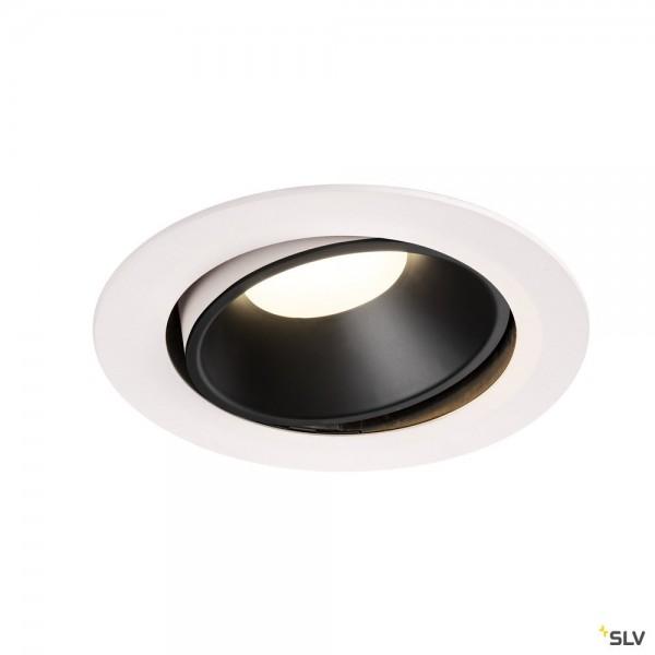 SLV 1003757 Numinos Move XL, Deckeneinbauleuchte, weiß/schwarz, LED, 37,4W, 4000K, 3600lm, 20°