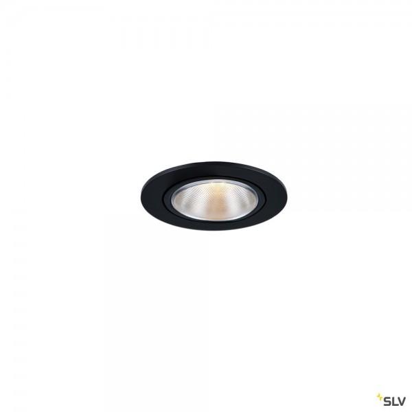 SLV 1000906 Kaholo, Deckeneinbauleuchte, schwarz, E27, max.50W